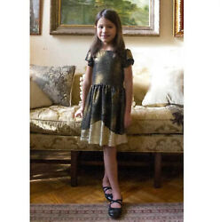APPAMAN GIRLS SIZE 14 GOLD DUST NYLAH DRESS NEW WITH TAGS $27.99