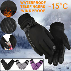Winter Gloves Men Women Warm Snowmobile Skiing Gloves For Scooter Outdoor Sports $11.79