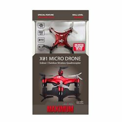 ✨NEW✨Propel Maximum X20 Micro Drone RED Beginner Easy Quadcopter Sealed $19.99