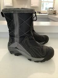 Keen Dry Womens Boots Waterproof Lined Black Winter Snow Size 6 $39.99