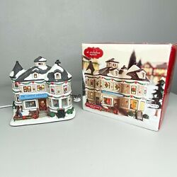 St. Nicolas Square The Coffee Grounds Illuminated Coffee Shop Christmas Village $45.00