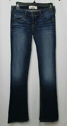 HOLLISTER Womens Low Rise Boot Cut Denim Blue Jeans Pre owned $24.99