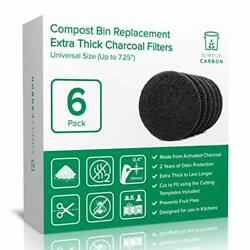 Simply Carbon 2 Years Supply Extra Thick Filters for Kitchen Compost Bins Lon $23.10