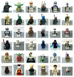 LEGO Star Wars Minifigures Genuine Clone Troopers or Stormtroopers or Jedis $10.99