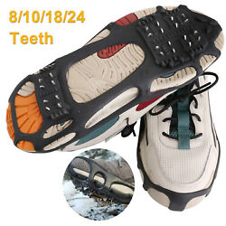 Anti Slip Ice Snow Grips Spike Crampon Grippers Cleats Traction Hike Shoes Boots $13.99