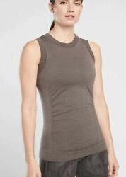 NEW Athleta Foresthill Ascent Tank Womens NWT Md S XS black tan gray Coffee sage $30.00