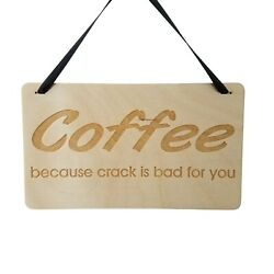 Funny Coffee Sign Coffee Bar Sign Coffee Decor Funny Kitchen Signs Plaqu $15.00