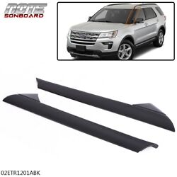 For 2011 2019 Ford Explorer Windshield Outer Trim Molding Left Right Pair Side