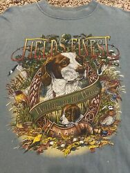 Vintage Snowshoe Thompson Field's Finest Dog Graphic Green T Shirt Size Large $15.00