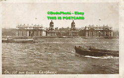 R025536 College from River. Greenwich. F. O. Scott. Carbon Gloss GBP 6.80