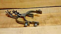 2 Cast Iron Spurs Rodeo Cowboy Western Rustic Home Decor Silver in color $19.99