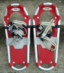 Atlas Kids Snowshoes 7quot;x18quot; Red Modern Trail Shoes Children Youth up to 80 lbs $28.00