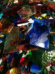 Scrap Stained Glass approx 15##x27;s FREE SHIPPING $35.00
