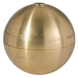 Bamp;P Lamp Large Hollow Brass Ball $178.00