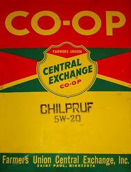 TIN SIGN quot;Co Op Red Yellowquot; Gas Oil Signs Rustic Wall Decor $7.35