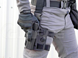 Drop Leg Rig amp; right or left handed holster for Glock Mamp;P Beretta Sig 1911 $72.95