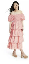 LoveShackFancy Target Simone Smocked Dress Pink Melon Maxi Plus 3X Love Shack $59.99