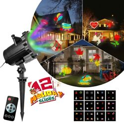 Christmas LED Moving Light Projector Laser Garden Halloween Party Indoor Outdoor