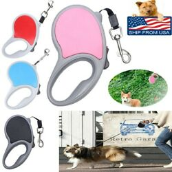 Automatic Retractable Dog Leash 16ft Tangle Free Durable Rope UP to 66 lbs USA $6.31