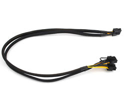 For HP DL380 G8 G9 10pin to 6pin and 8pin Power Adapter GPU Cable 50cm ship @US $15.69