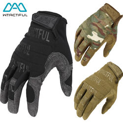 Touch Screen Motorcycle Full Finger Gloves Tactical Airsoft Combat Shooting Gear $14.24