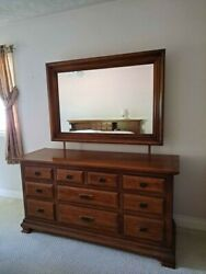 Vintage bedroom set king size solid wood american made excellent condition $800.00