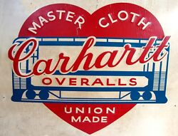 TIN SIGN quot;Carheartt Overallsquot; Clothing Signs Rustic Wall Decor $7.35