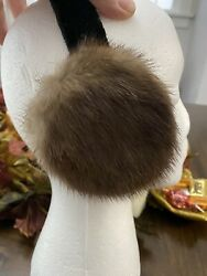 NEW LEVIN FINEST AMERICAN MINK FUR EARMUFFS $19.95