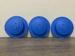 Evenflo Lot Of 3 Blue Leg Caps 6161948 Exersaucer Mega Splash Parts Replacement $14.99