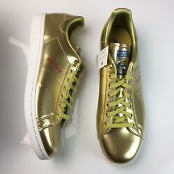 Adidas Stan Smith Gold Leather Shoes Mens Tennis Sneakers Size 12 FW5364 NEW $79.99