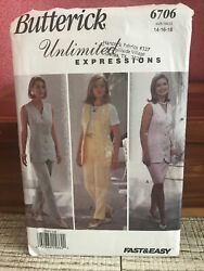 Butterick Unlimited Expressions Sewing Pattern 6706 Fast amp; Easy Top Skirt Pants $6.90