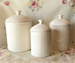 Mikasa Italian Countryside Canisters Set of 3 FREE SHIPPING $95.00