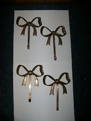 Vintage Brass Bows With 5quot; Hangers Set Of 4 $75.25