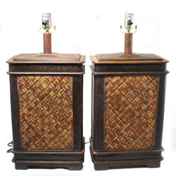 Set Of 2 Vintage Wooden Lamps $60.00