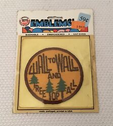 """Vintage NOS """"WALL TO WALL amp; TREE TOP TALL"""" CB Radio Patch $10.49"""