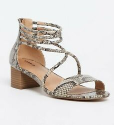New Torrid Womens Wide Width Snakeskin Print Faux Leather Strappy Sandals Size 8 $34.99