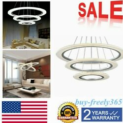Modern Circle Acrylic Ring LED Ceiling Chandelier Light Pendant LED integrated $211.01