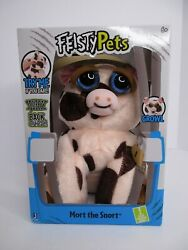 Feisty Pets Mort the Snort Pig Plush Jazwares NEW $15.99