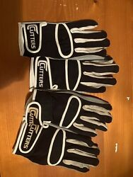 Cutters Football Gloves. 2 Pairs Size Medium. $20.00