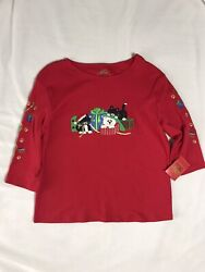 Christmas Novelty Shirt. Womens XL. 100% Cotton. New With Tags. $6.00