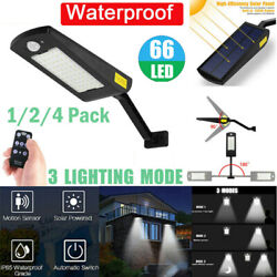 66 LED Commercial Solar Motion Sensor Street Light Outdoor Wall Lamp Waterproof