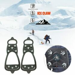 Ice Spikes Cleats Anti slip Climbing Crampons Travelling 8 Studs Outdoor $15.97