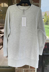 ATHLETA Bounce Back Sweatshirt Dress Tunic Fog Grey Heather Medium Petite NWT $67.99