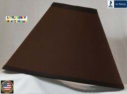 DARK BROWN LAMP SHADE Clip On $65.95 LAST ONE $65.95
