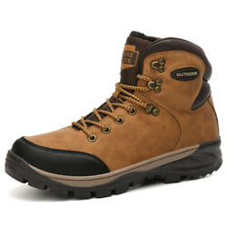Winter Mountain Outdoor Hiking Shoes for Men Trekking Snow Ankle Boots Sneakers $43.90