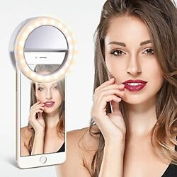 Portable Selfie LED Light Ring Fill Camera Flash For Cell Phone Universal Device $4.95