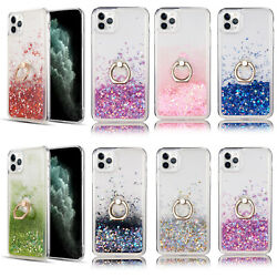 Dynamic Glitter Quicksand Protective TPU Case Ring Cover For iPhone 12 12 Pro $9.99