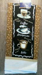 Home Collection Coffee Themed Kitchen Towels 15x25 in. Brown $5.95