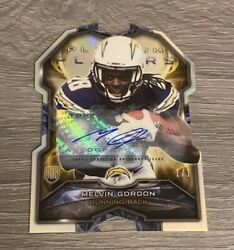Topps Platinum Melvin Gordon Die Cut Refractor RC Chargers ROOKIE 1 1 Autograph $86.00