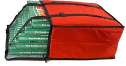 Pizza Delivery Bags Holds Five 20quot; Pizzas Red Reusable Grocery Insulated $17.99